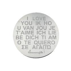 Zilveren Munt Gravure Ik Hou Van Jou 33mm 330275