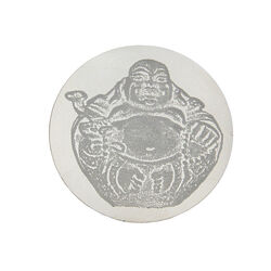 Zilveren munt gravure Boeddha 330287