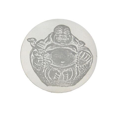Zilveren graveermunt Boeddha 330287 33mm