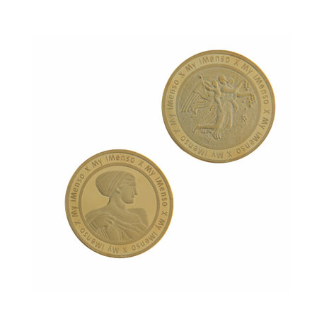 Verguld zilver munt romeinen MY iMenso 24 mm