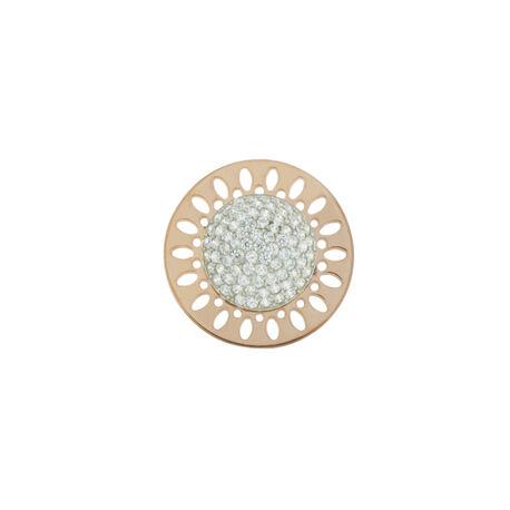 MY iMenso 24mm Zilveren Insignia Rose Verguld Zirkonia 240243