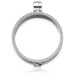 Zilveren medaillon Parelrand 330076 MY iMenso