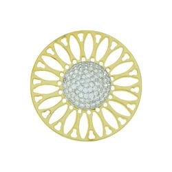 Vergulde bloem insignia zirkonia 330242