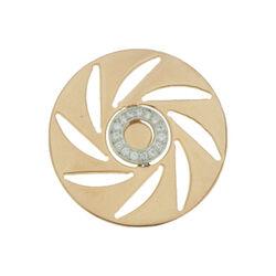 Roséverguld zilver opengewerkte cover ziirkonia 330239