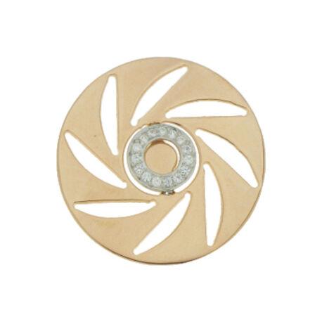 Zilver En Rose Verguld Insignia Zirkonia 330239