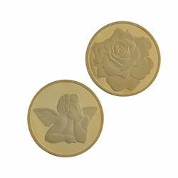 Verguld Zilveren Munt Engel Roos 330175