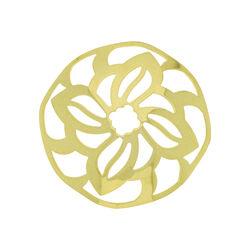 Zilveren cover 33mm verguld bloem 330346