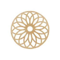 Rosévergulde bolle cover bloemblaadjes 330355