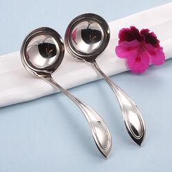 2 Zilveren Juslepels Puntig Filetmodel