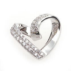 Zilveren harthanger met zirkonia