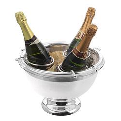 Verzilverde champagnekoeler 3 flessen