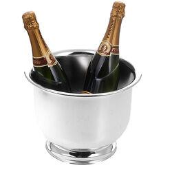 Verzilverde champagnekoeler voor 2 flessen