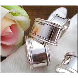 zilveren vingerdoekring met filetrand