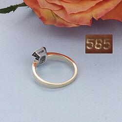 Gouden ring saffier briljanten