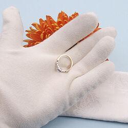 Wigouden ring met saffier en briljanten