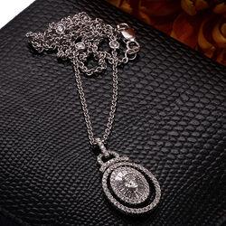 Witgoud collier diamant