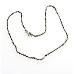 zilver koordcollier 60 cm