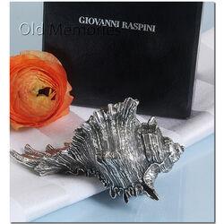 Tafelstuk schelp van Raspini 3e gehalte zilver