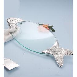 Dienblad vis met visdienschep