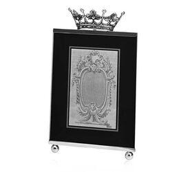 Zilveren fotolijst kroon 15x20
