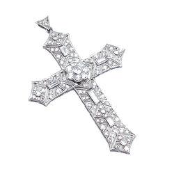 Platina Kruis Diamant