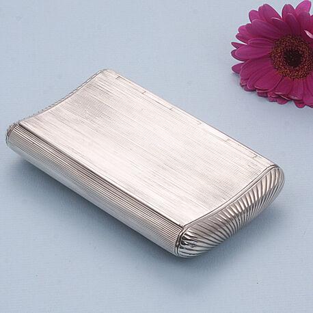 Zilveren tabaksdoos ribpatroon