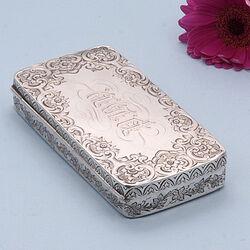 Zilveren tabaksdoos 19e eeuws