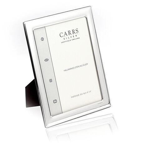 Zilveren fotolijst glad carrs 20 x 15 cm fr066