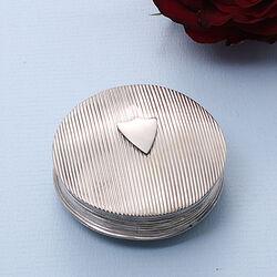 Zilveren Pillendoosje Ribpatroon Uit 1818