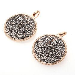 Verguld zilveren oorhangers Italian Design