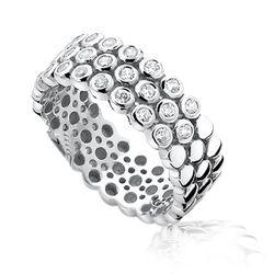 zilveren ring met rondjes en zirconia ZINZI ZiR760