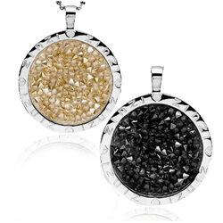 Zinzi hanger goud en zwart kristal Zih809