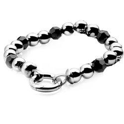 Zinzi Armband Zilver Bol Zwart Zia683