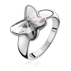 Zilveren ring met vlinder zirconia ZIR717 Zinzi