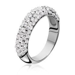 Zinzi Ring Witte Zirconia Zir632