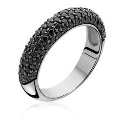 Zinzi Ring Zwart Zirconia Zir633