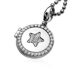 Zinzi charms medaillon zwart wit Ch284