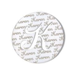 Zilver munt met naam design 7 MY iMenso 33mm