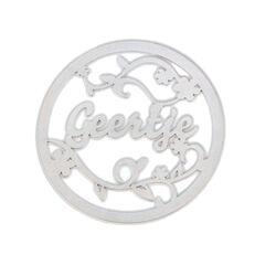 Zilver munt met naam design 5 MY iMenso 33mm