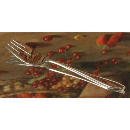 Zilveren sardinevorkje model puntfilet