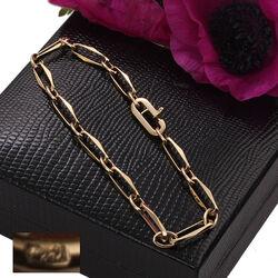 Gouden armband closed for ever voor bedels of kinderkopjes