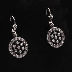 Zilveren oorhangers Swarovski kristal