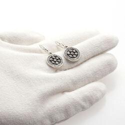 zilveren oorbellen swarovski kristal