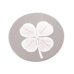 Zilveren munt gravure klavertje vier 330302