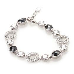 Zilveren armband zwart wit zirconia Zia460 Zinzi
