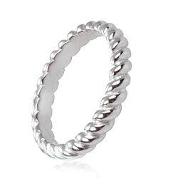 Zilveren ring gedraaid zir604