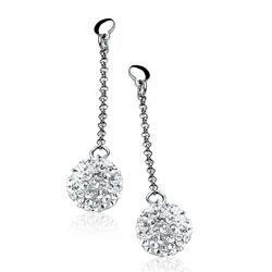 Zinzi oorbellen witte kristallen Zio569