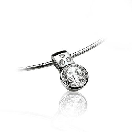 Zilver hanger zirkonia zih575 Zinzi