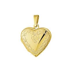 Gouden medaillon hart gravering