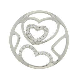 Zilver cover hartjes met zirkonia MY iMenso 330501